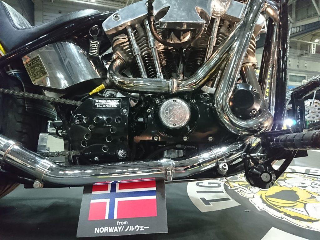 ハーレーターボのエンジン部分のアップ。