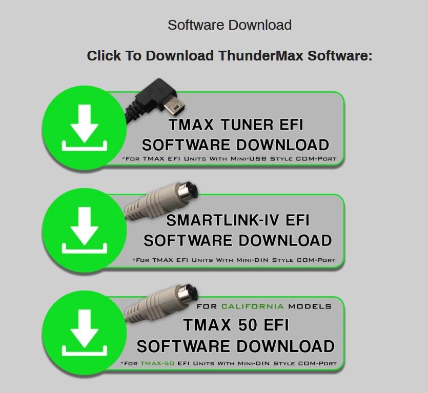 調整用ソフトのダウンロード画面
