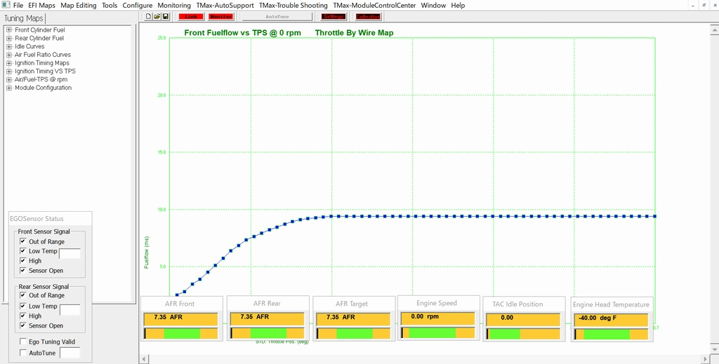 サンダーマックスのモニターを表示させている画面